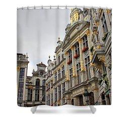 Golden Grand Place Shower Curtain by Carol Groenen