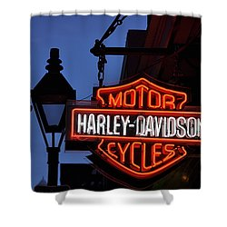 Harley Davidson New Orleans Shower Curtain by Bill Cannon