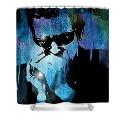Harmonica Blues Shower Curtain