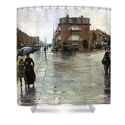 Hassam: Rainy Boston, 1885 Shower Curtain by Granger