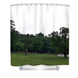 Historic Appomattox Panorama  Shower Curtain by Teresa Mucha