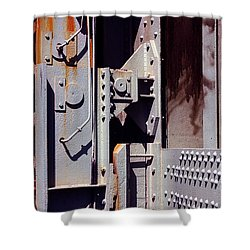 Industrial Background Shower Curtain by Carlos Caetano