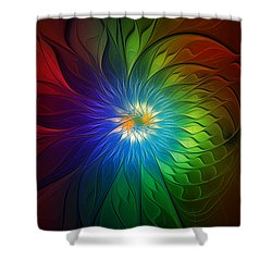 Into Light Shower Curtain by Amanda Moore