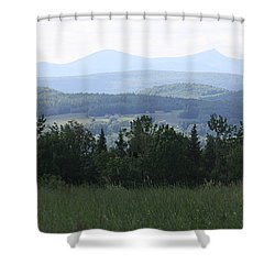 Jay Peak From Irasburg Shower Curtain by Donna Walsh
