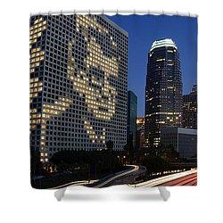 Joe Paterno City Scape Shower Curtain by Paul Van Scott