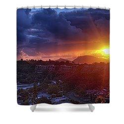 Kaneohe Sunrise Shower Curtain by Dan McManus