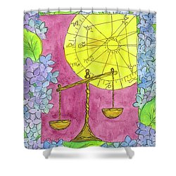 Shower Curtain featuring the painting Libra by Cathie Richardson