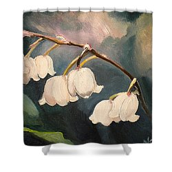 Lily Whites Shower Curtain by Renate Nadi Wesley