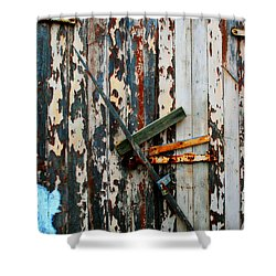 Locked Door Shower Curtain by Perry Webster
