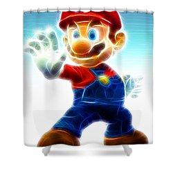Mario Shower Curtain by Paul Van Scott
