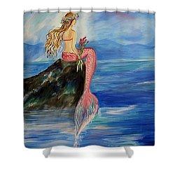 Mermaid Wishes Shower Curtain