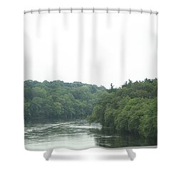 Mighty Merrimack River Shower Curtain by Barbara S Nickerson