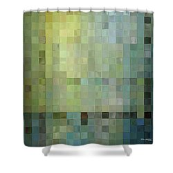 Modern Tile Art One Modern Decor Collection Shower Curtain