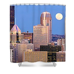 Moon Over Pittsburgh 2 Shower Curtain