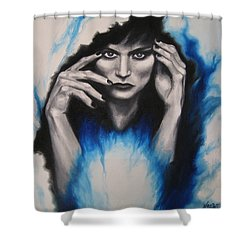 Mysterious Shower Curtain by Jindra Noewi