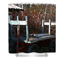 Shower Curtain featuring the digital art Old Wagon by Stuart Turnbull