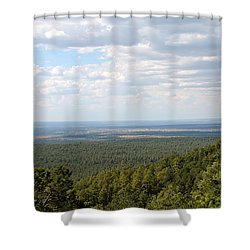 Overlooking Pinetop Shower Curtain