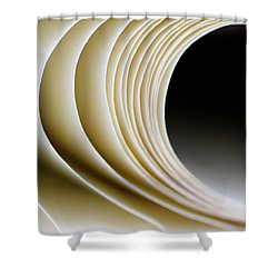 Shower Curtain featuring the photograph Paper Curl by Pedro Cardona