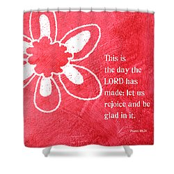 Rejoice Shower Curtain by Linda Woods