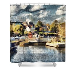 Riverview V Shower Curtain