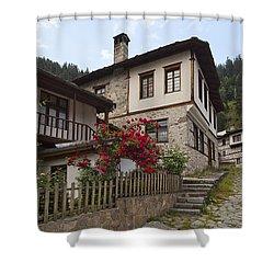 Shiroka Laka Village Shower Curtain