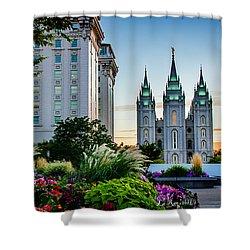 Slc Temple Js Building Shower Curtain by La Rae  Roberts