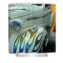 Smokin' Hot - 1938 Chevy Coupe Shower Curtain by Betty Northcutt
