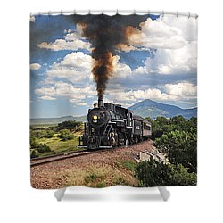 Steaming Towards La Veta Shower Curtain