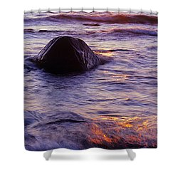 Sunset Lights Shower Curtain by Konstantin Dikovsky