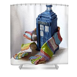 Tardis Ll Shower Curtain by Rhonda Chase