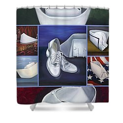 Shower Curtain featuring the painting The Art Of Nursing II by Marlyn Boyd