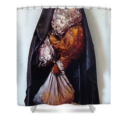 The Curtain Shower Curtain by Nancy Mueller