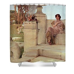 The Voice Of Spring Shower Curtain by Sir Lawrence Alma-Tadema