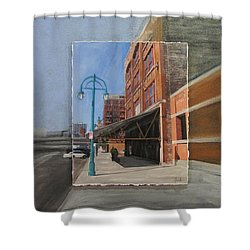 Third Ward - Market Street Shower Curtain by Anita Burgermeister