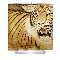 Tiger King Shower Curtain by Annie Poitras
