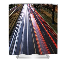 Traffic Lights Shower Curtain by Carlos Caetano