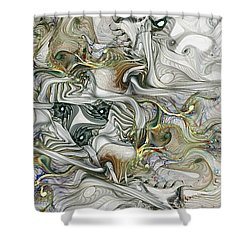 Shower Curtain featuring the digital art True Enough by NirvanaBlues