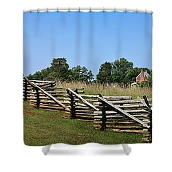 View Of Clover Hill Tavern Appomattox Court House Virginia Shower Curtain by Teresa Mucha