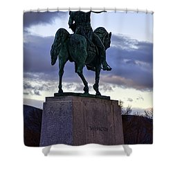 Washington Monument At West Point Shower Curtain