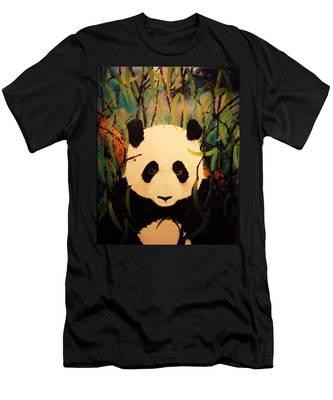Endangered Panda Men's T-Shirt (Athletic Fit)