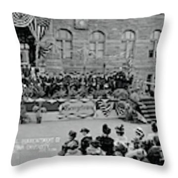 Commencement Georgetown University Throw Pillow by Fred Schutz Collection