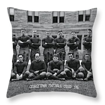 Georgetown U Football Squad Throw Pillow
