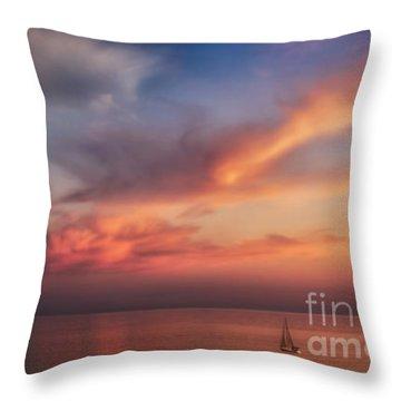 Good Morning Cape Cod Throw Pillow by Susan Candelario
