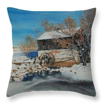 Grants Old Mill Throw Pillow by Susan Moore