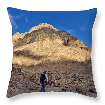 Mount Sinai Throw Pillow