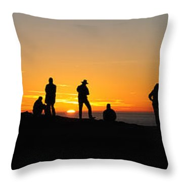 Panorama Everyone Likes A Sunset Throw Pillow by Vivian Christopher
