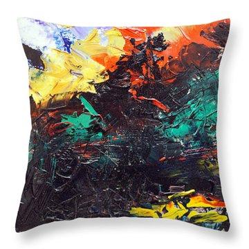 Schizophrenia Throw Pillow by Sergey Bezhinets