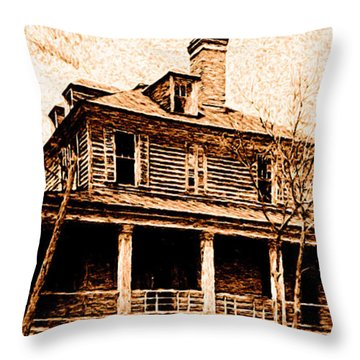 This Old House Throw Pillow by Chuck Mountain