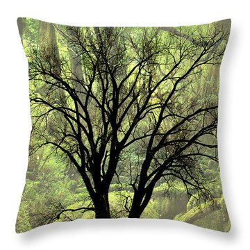 Freaky Tree 2 Throw Pillow by Marty Koch