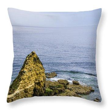 Throw Pillow featuring the photograph Pointe Du Hoc by Marta Cavazos-Hernandez